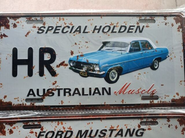 HR SPECIAL HOLDEN Number Plate Style 3D Tin Metal Sign NEW Man Cave Garage Bar