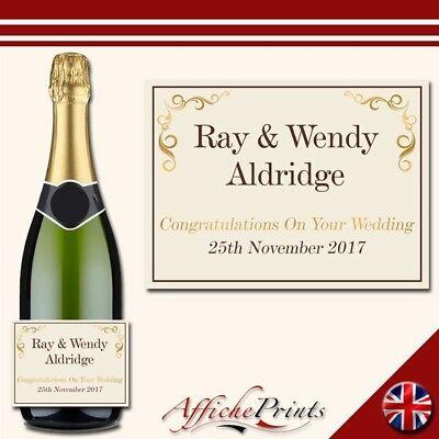 L113 Personalised Celebration Champagne Prosecco Brut Custom Label Any  Occasion! | eBay