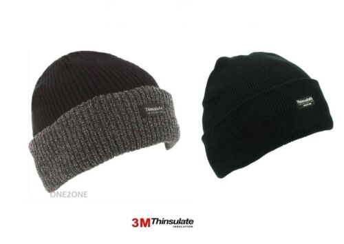 KNITTED HAT//BEANIE. MENS HIGH QUALITY THERMAL RIBBED