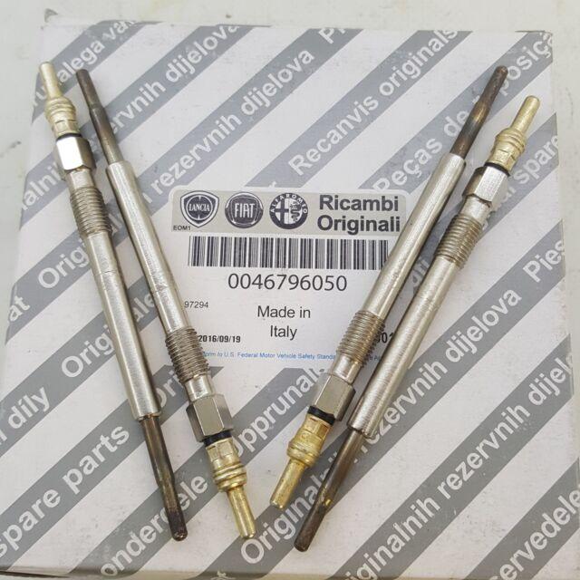 4 CANDELETTE 46796050 ORIGINALE FIAT Mot. 1.3 MJT Ecquivalente BOSCH 0250203002