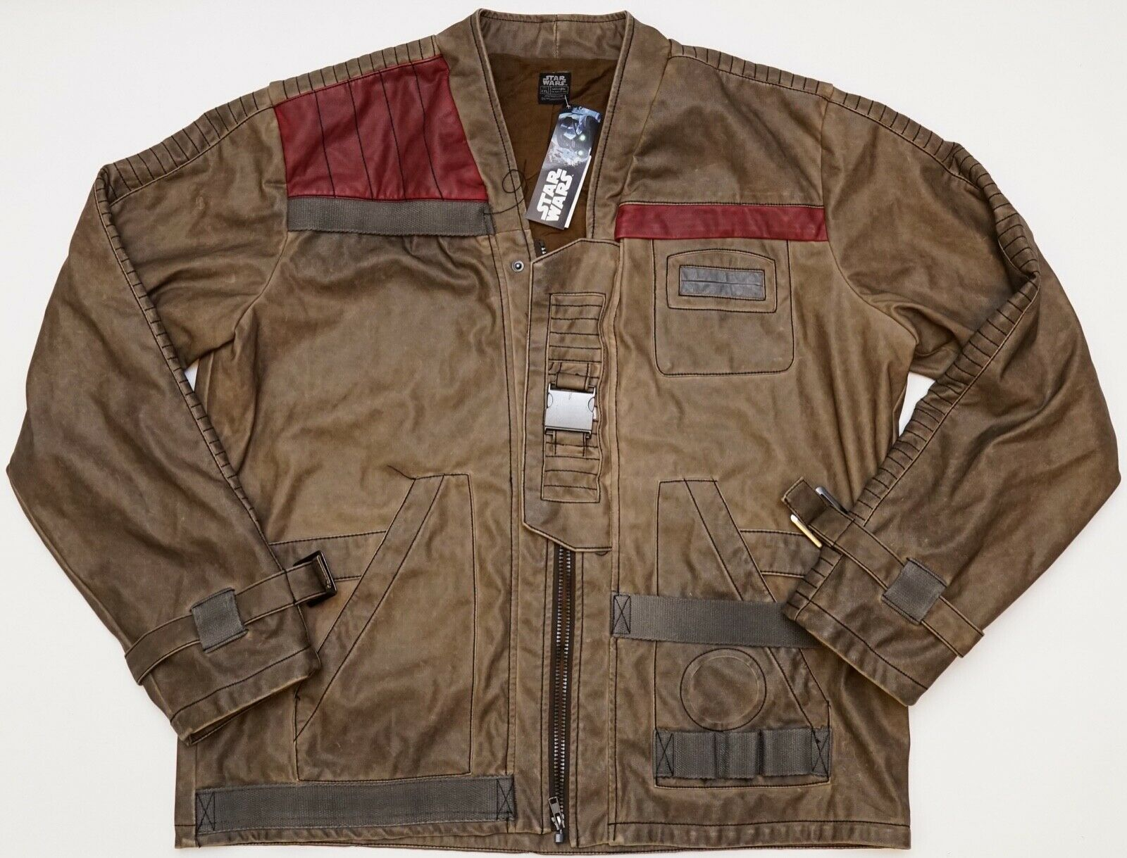Star Wars Adult Men/'s Finn Costume Replica Leather Jacket