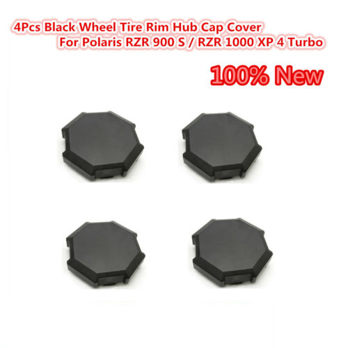 4 pcs Black Wheel Tire Rim Hub Cap Cover For 15-17 Polaris RZR XP 1000 4 /& 900 S