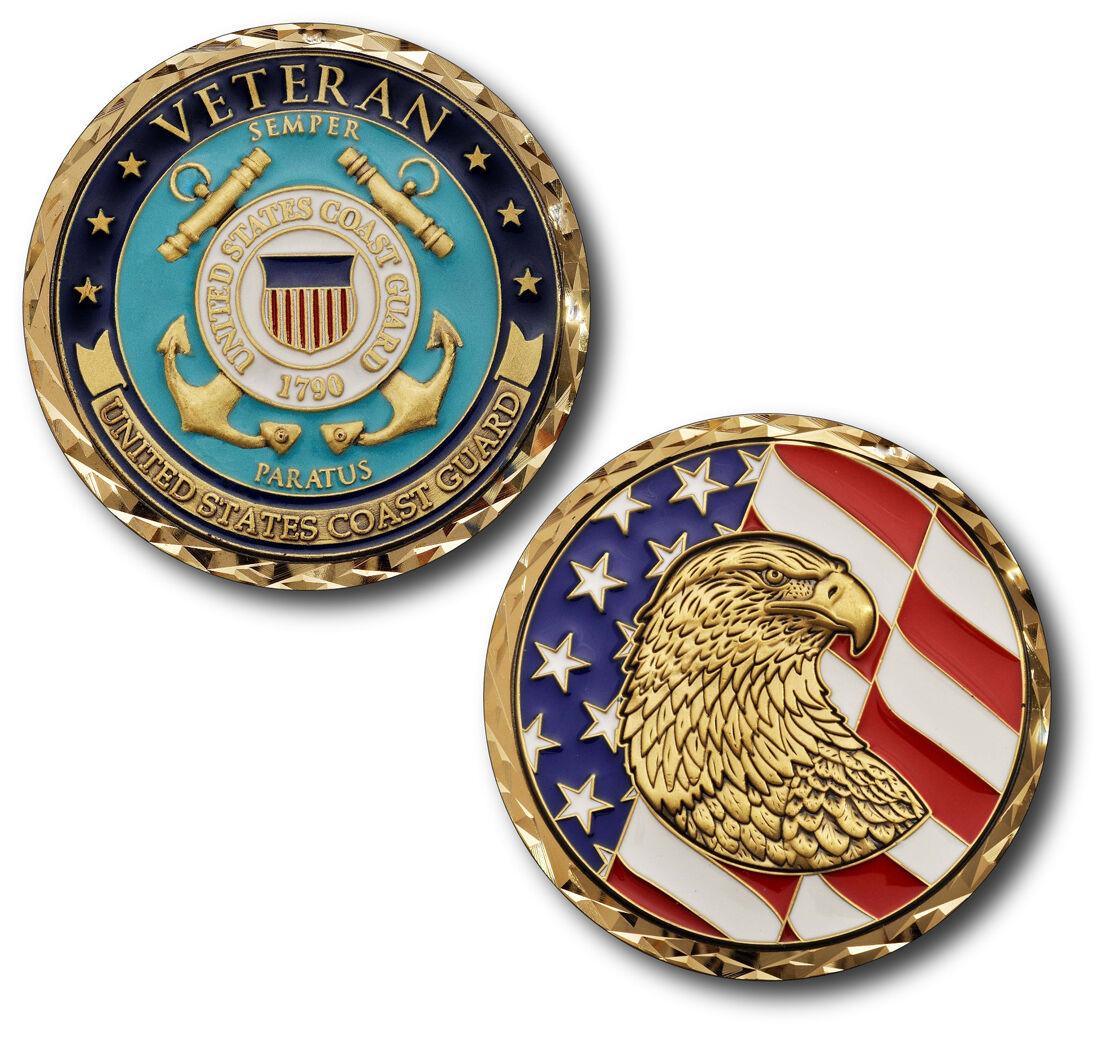 New Uscg U S Coast Guard Veteran Challenge Coin Ebay