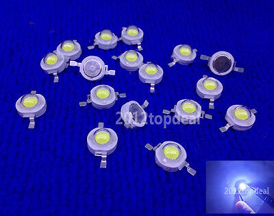 50 Pcs 3W cold White High Power Led Diodes 25000-30000k Lamp Beads