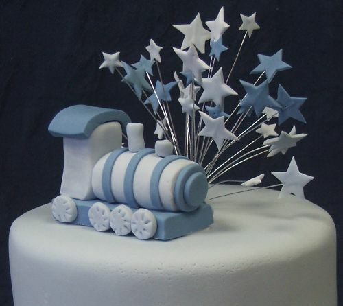 Handmade wired BLUE /& PALE BLUE wired STAR cake topper