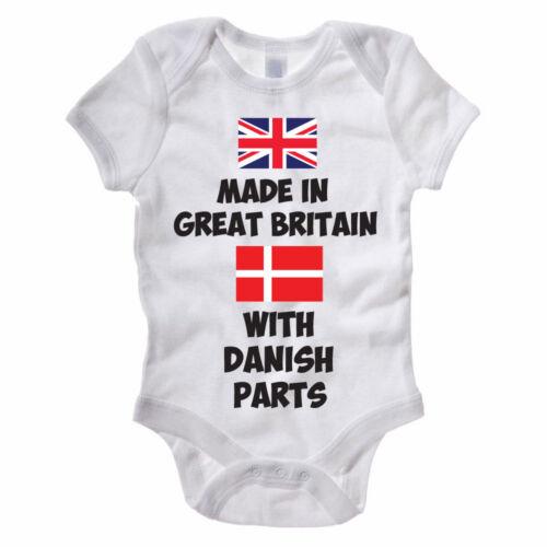 Funny Baby Grow//Gilet-Fabriqué en Grande-Bretagne avec Danois pièces-Body Costume