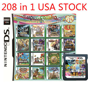 New-208-in-1-Games-Cartridge-Multicart-For-Nintendo-DS-NDS-NDSL-NDSI-2DS-3DS-US