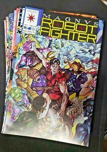 MAGNUS-ROBOT-FIGHTER-21-Book-Lot-039-s-14-54-VALIANT-1991-VF-NM-S423