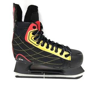 M-amp-L-Sport-t-24-Eishockey-Schlittschuh-Unisex-Gr-43-Iceskate-schwarz-rot
