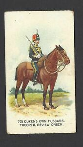WILLS-AUS-TYPES-OF-BRITISH-ARMY-CAPSTAN-2-7TH-QUEEN-039-S-OWN-HUSSARS