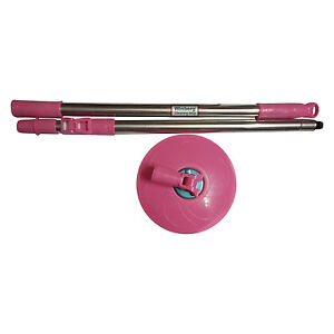 Winberg ® 360 degree Magic Mop rotating Rod set steel rod set with dish RODPINK