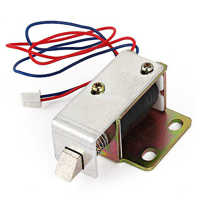 Cabinet Door Electric Lock Assembly Solenoid DC12V 0.6A Square bevel latch