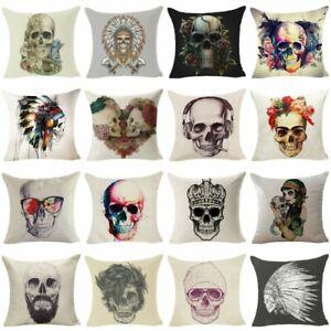 Skull-Sofa-Cushion-Cover-Throw-Pillow-Case-Cotton-Linen-Pillow-Cover-Home-Decor