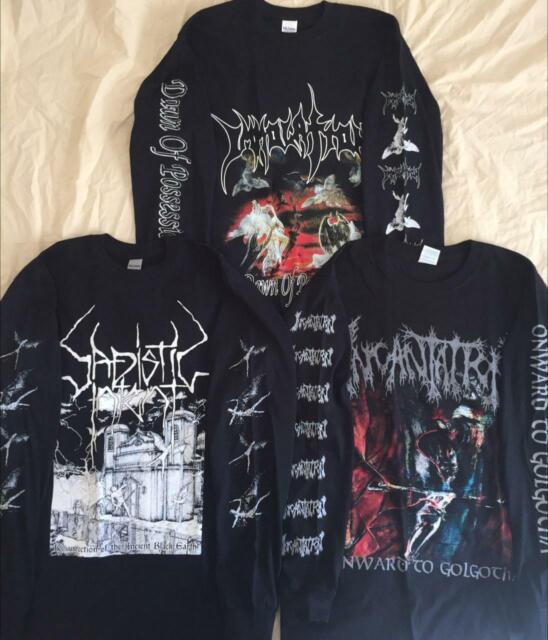 MORBID ANGEL Long Sleeve T shirt Black Death metal MAYHEM IMMOLATION INCANTATION