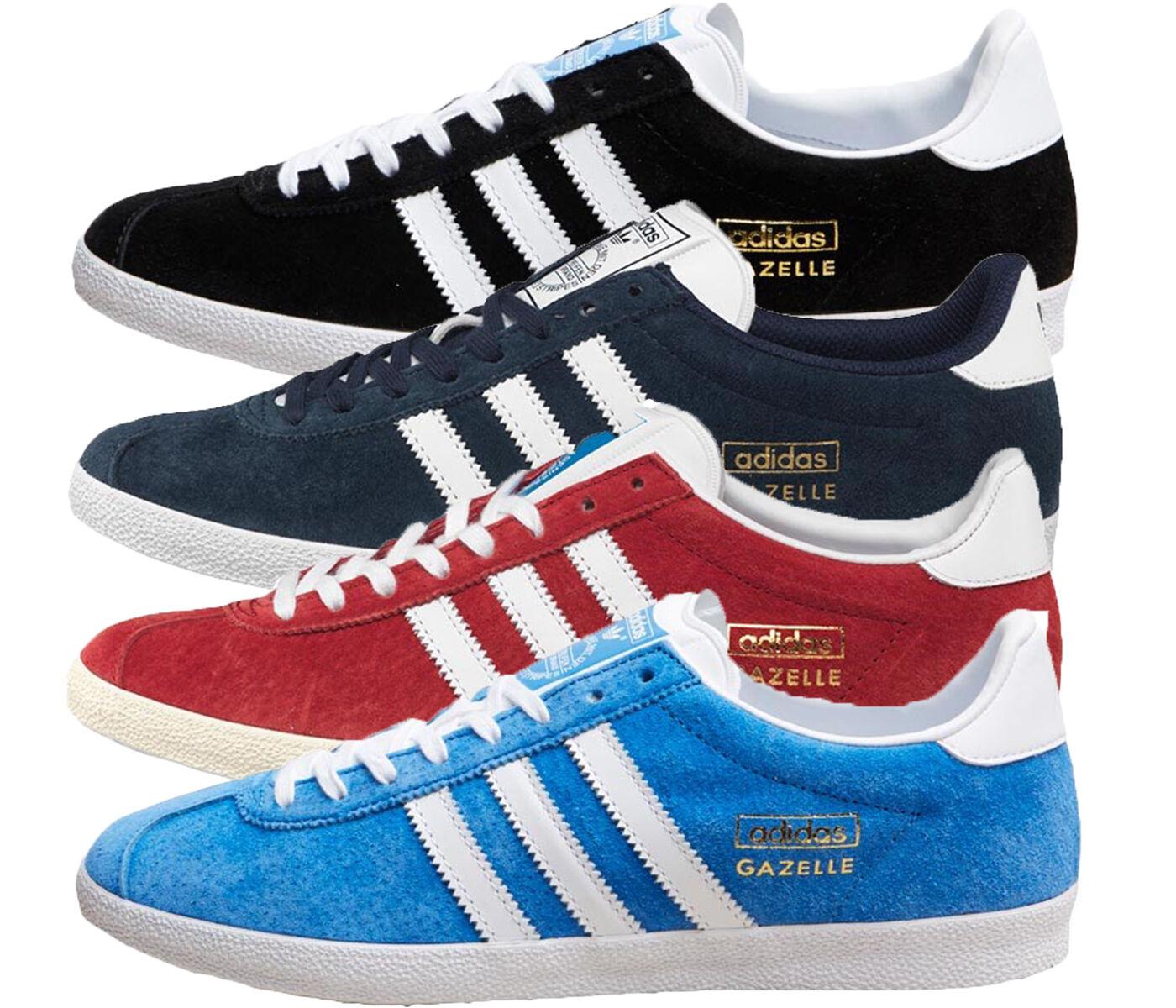 ADIDAS ORIGINALS PARA HOMBRE GAZELLE OG Zapatillas Zapatillas OG en Negro/Azul Marino/Azul O Rojo 85b2c9