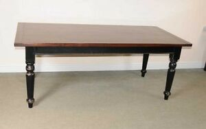Oak Refectory Table Painted Base Kitchen Farmhouse Dining Tables EBay