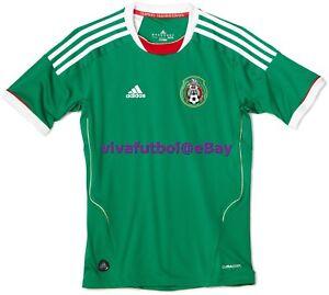 a5c53450a NEW Adidas Mens Seleccion Mexicana Futbol 11/12 Mexico Home Soccer ...