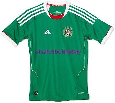 NEW Adidas Mens Seleccion Mexicana Futbol 11/12 Mexico Home Soccer ...