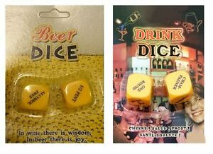 Party Drinking Dice Decider Game Pub Toy Adult Stag Hen SH O5E4 GRL A0D5