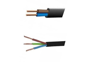 Black Flex 3 Core 0.75mm Cable Wire PVC Extension Lead Wiring Various Lengths