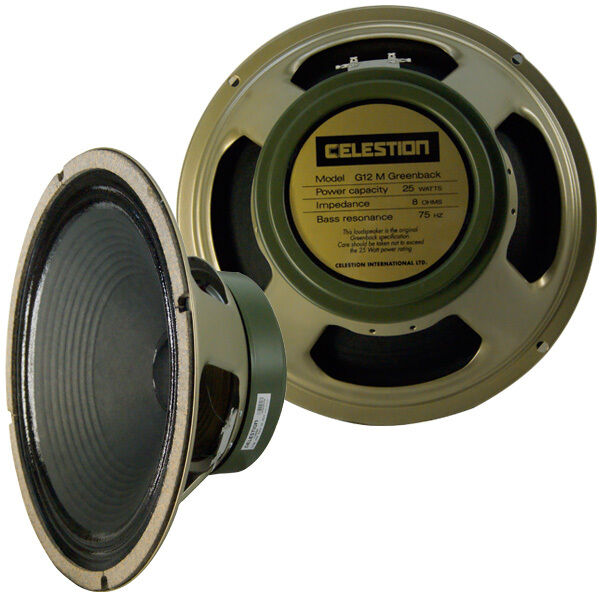 Celestion 2 pieces G12M Grünback guitar speaker 8 Ohms brand new