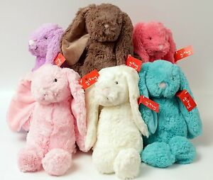 Super Soft Bunny Plush by Gitzy Choose 6 Vibrant Colors 12 Inch Tall