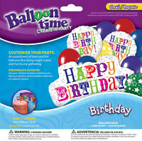 Balloon Time Birthday Greetings Balloon Pack 321313