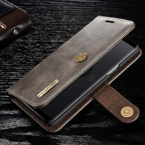 For-Samsung-S9-S8-Note-9-8-S7-Magnetic-Leather-Wallet-Card-Removable-Case-Cover