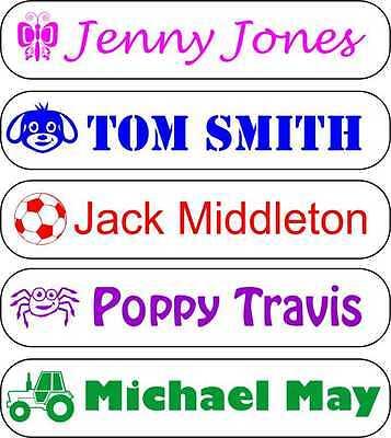 Pegar en pegatina Etiquetas de Nombre Personalizado Impermeable para libros, botellas, Zapatos