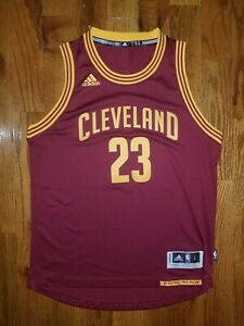 best sneakers 905cc 86ed1 Details about NWOT YOUTH L LEBRON JAMES ADIDAS SWINGMAN NBA CLEVELAND  CAVALIERS JERSEY MAROON