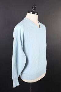Vintage-Jantzen-100-Wolle-V-Ausschnitt-Pullover-USA-Herren-Groesse-Medium-Gross