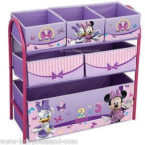 Disney Minnie Maus Spielzeugbox Spielzeugkiste Regal Kindermöbel ...