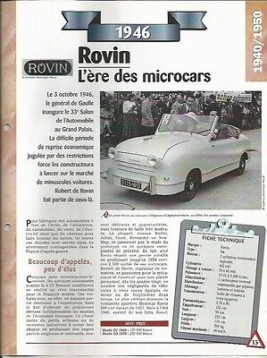 Qualificato Fiche Automobile - La Rovin 1946