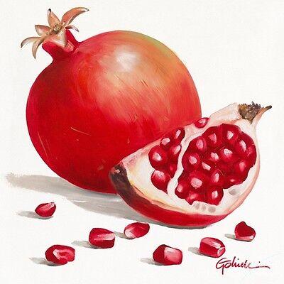 Paolo Golinelli: MeLaGrAna Fertig-Bild 30x30 Obst Küche Essen Deko Wandbild
