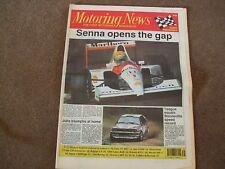 Motoring News 29 August 1991 1000 Lakes Spa F3000 Belgian GP Denver CART BTCC