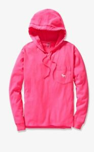 d2e2fc1b17d96 Details about Victoria secret pink X large Long Sleeve Perfect hoodie tee