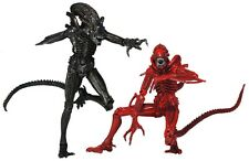 """Aliens - 7"""" Scale Genocide 2-pack ( Black & Red Xenomorphs ) -  NECA"""