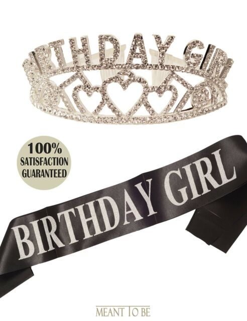 Birthday Girl Sash And Crown Birthday Girl Sash And Tiara Happy Birthday Party