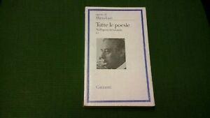 MARIO LUZI - TUTTE LE POESIE VOL II  1 ED. GARZANTI, 1979, 5mg21