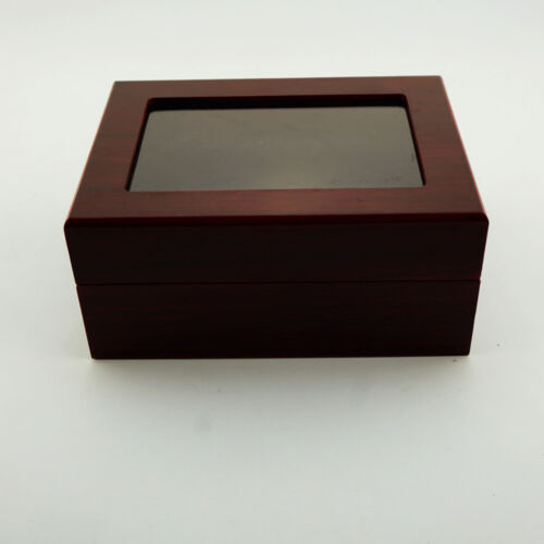 2//3//4//5//6holes Wooden Display Box for World Series Stanley Cup Championship Ring