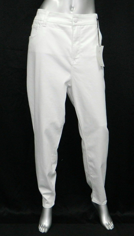 MELISSA MCCARTHY SEVEN7 NWT White Stretch Slimming Skinny Pencil Jeans sz 24 24W