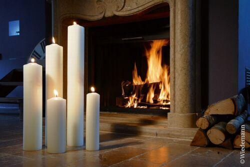 800x60mm Farbe Elfenbein Kaminkerze Altarkerze Gartenkerze Kerze 80//6cm