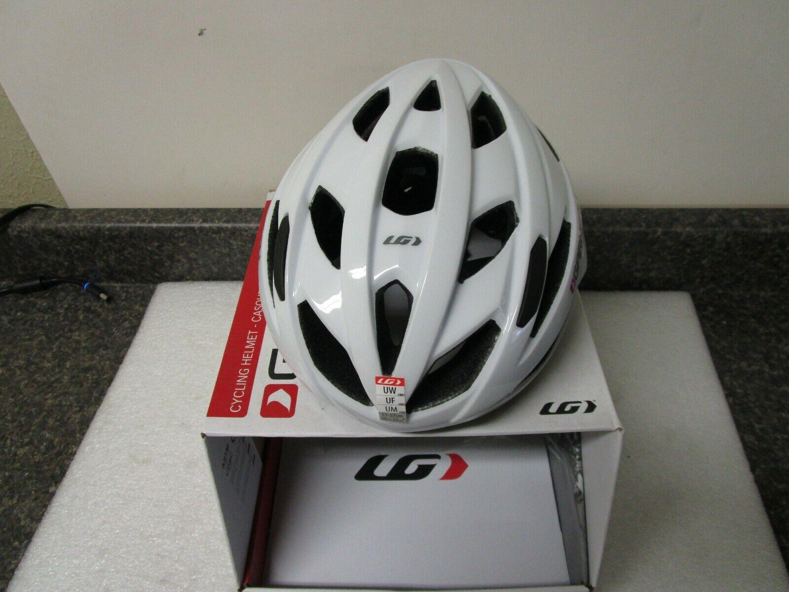 Garneau 14054599T6UW Amber donna Bike Cycling Helmet 5357cm bianca   New