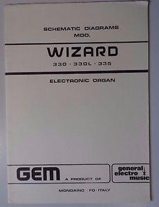 Original Gem Wizard 330 - 330L - 335 Electronic Organ Schematic ...