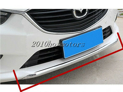 Chromed ABS Plastic Grill Grille Bumper Trim Cover For Mazda 6 Atenza 2014-2016