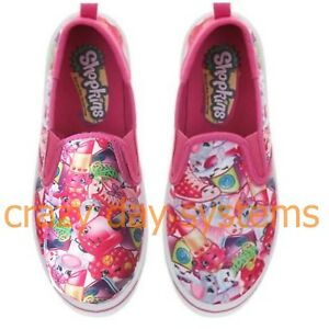 Shopkins-Shoes-Canvas-Casual-Tennis-Slip-On-Sneaker-1-2-3-Youth-Girls-NEW