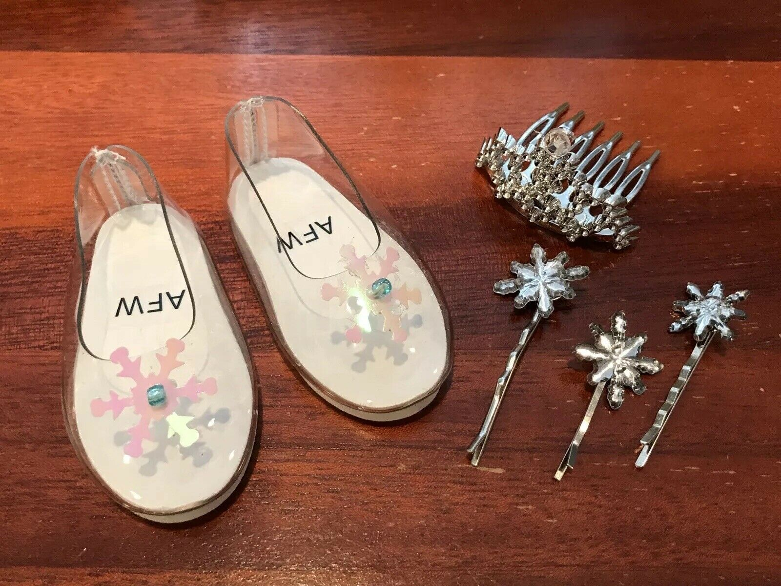 e8c9ab110fd76 Elsa Frozen Doll shoes Crown Hair Pins Accessories for American Girl size  Doll