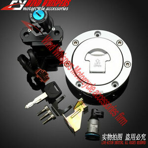 New Ignition Switch Gas Cap Cover Key Lock Set Fit Honda CBR1000RR 04-07 2005 06