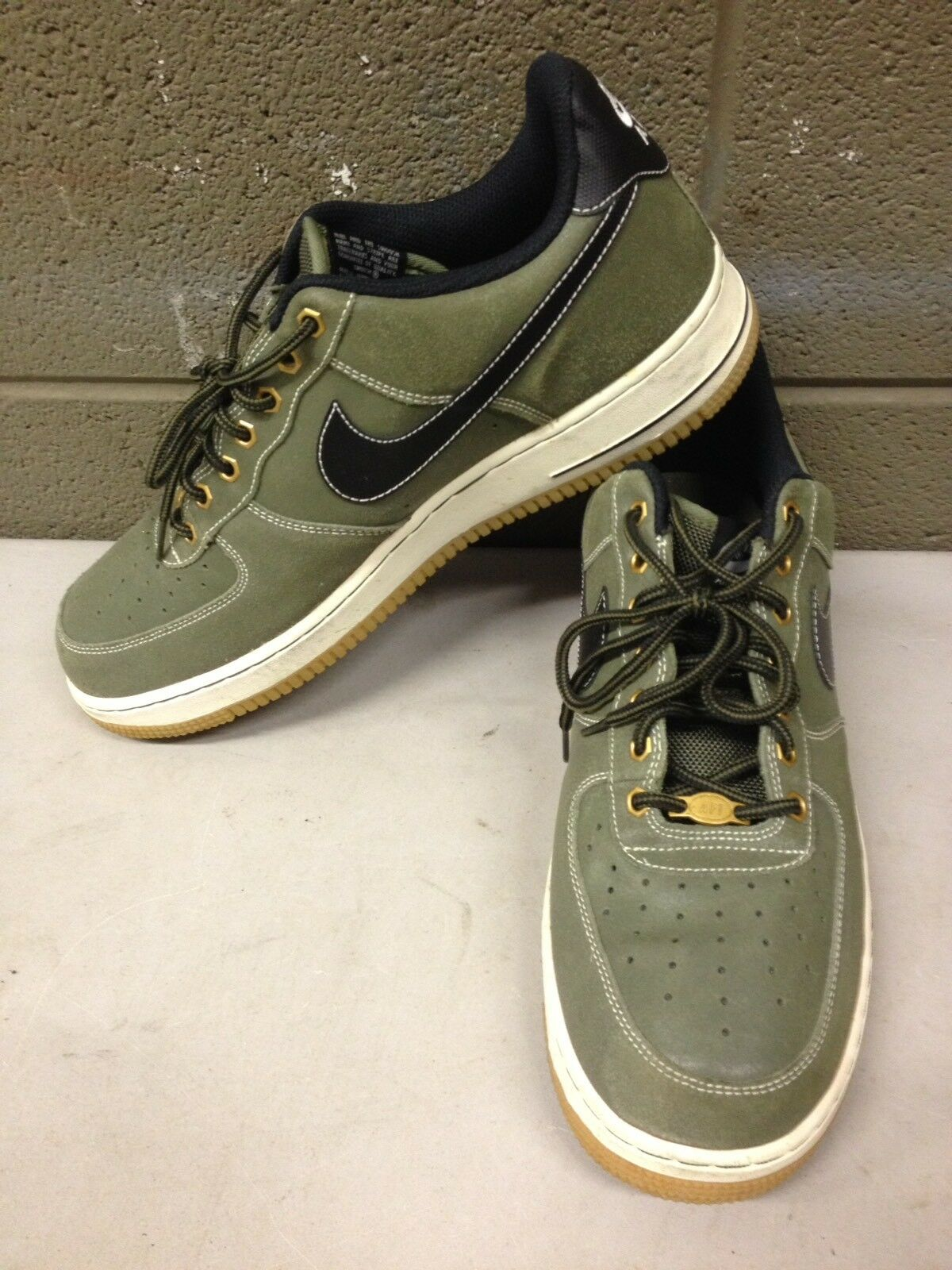 Nike Air Force 1 Low WorkBoot Pack Medium Olive 488298-206 Men's Size 11 (ddrc5)