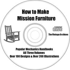How to Make Mission Furniture w/ 101 Plans & Designs on CD - Fully Illustrated